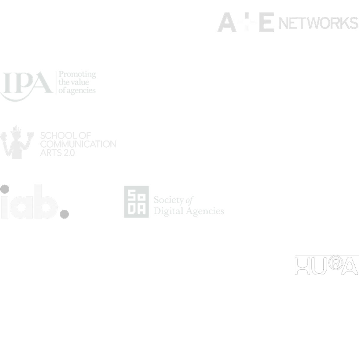 Logos of smart organisations who've used Additive